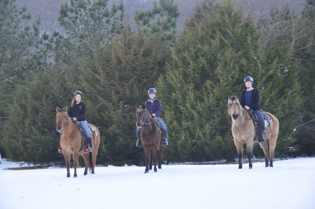 winter horseback rides central virginia